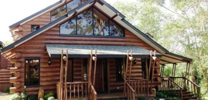 All concrete log homes tagaytay condominiums for Concrete log cabins